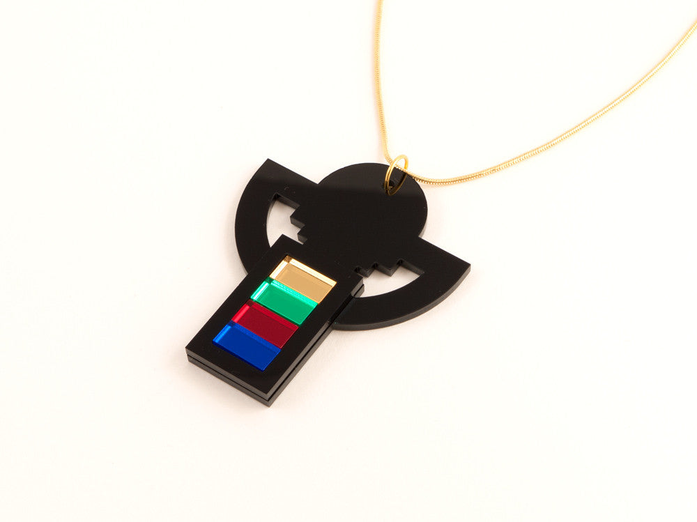 FORM007 Necklace - Black, Multi-colour