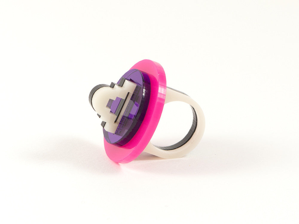 FORM012 Ring - Pink and Purple