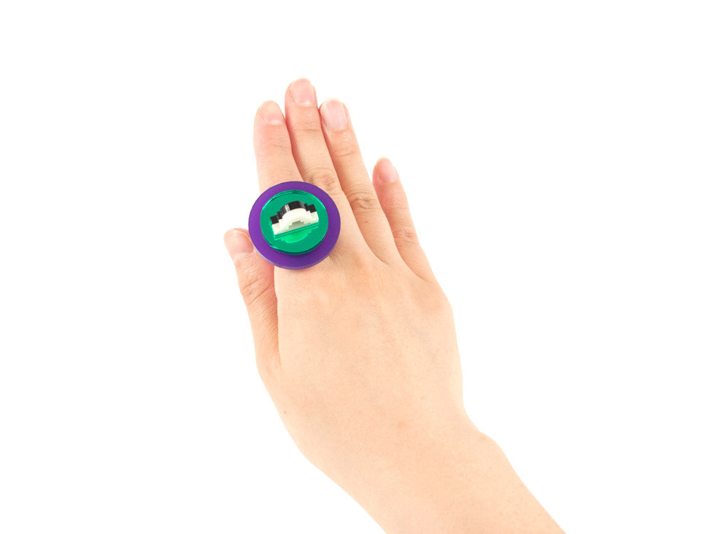 FORM012 Ring - Purple and Green