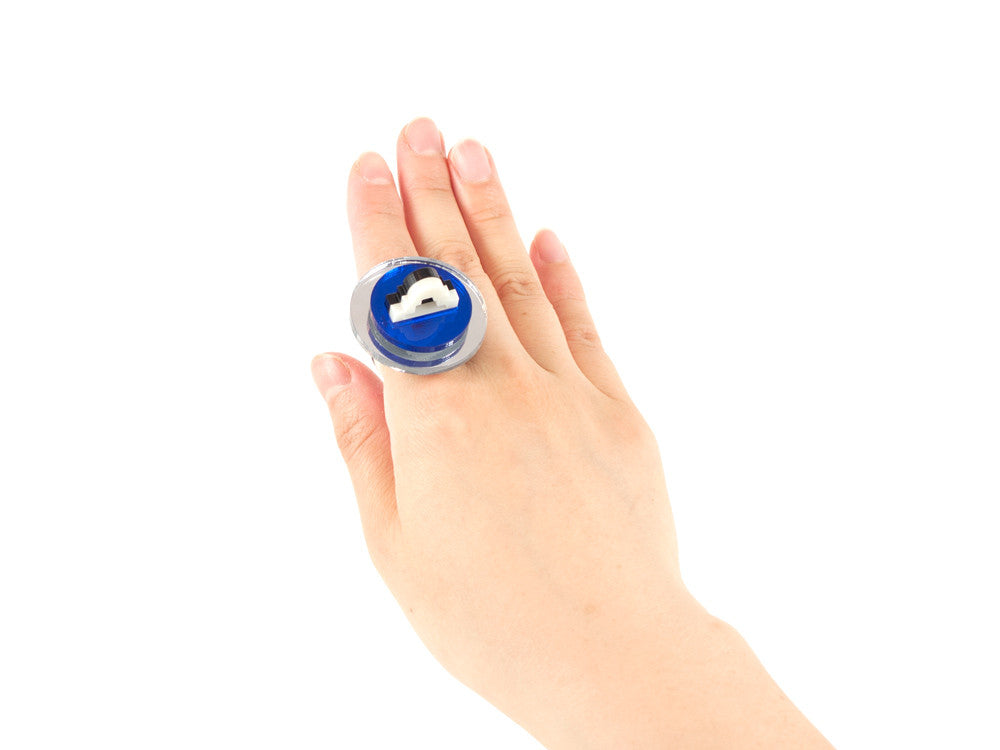 FORM012 Ring - Silver and Blue