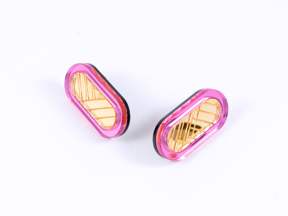 FORM045 Earrings - Babypink, Gold