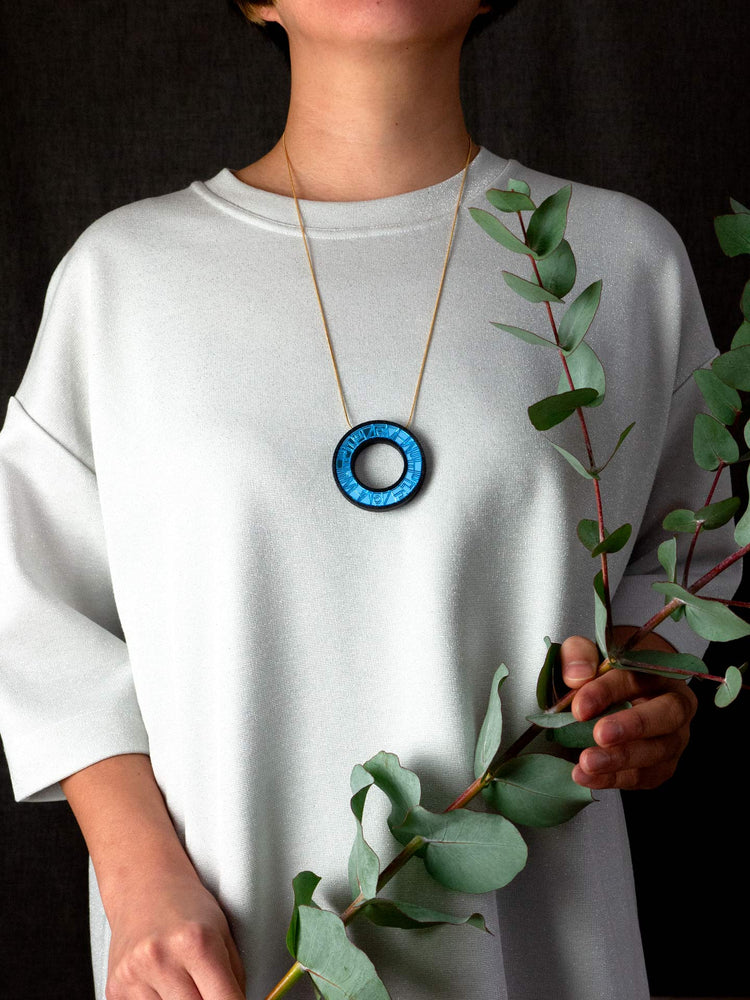 FORM065 PELOTA Necklace - Ice Blue