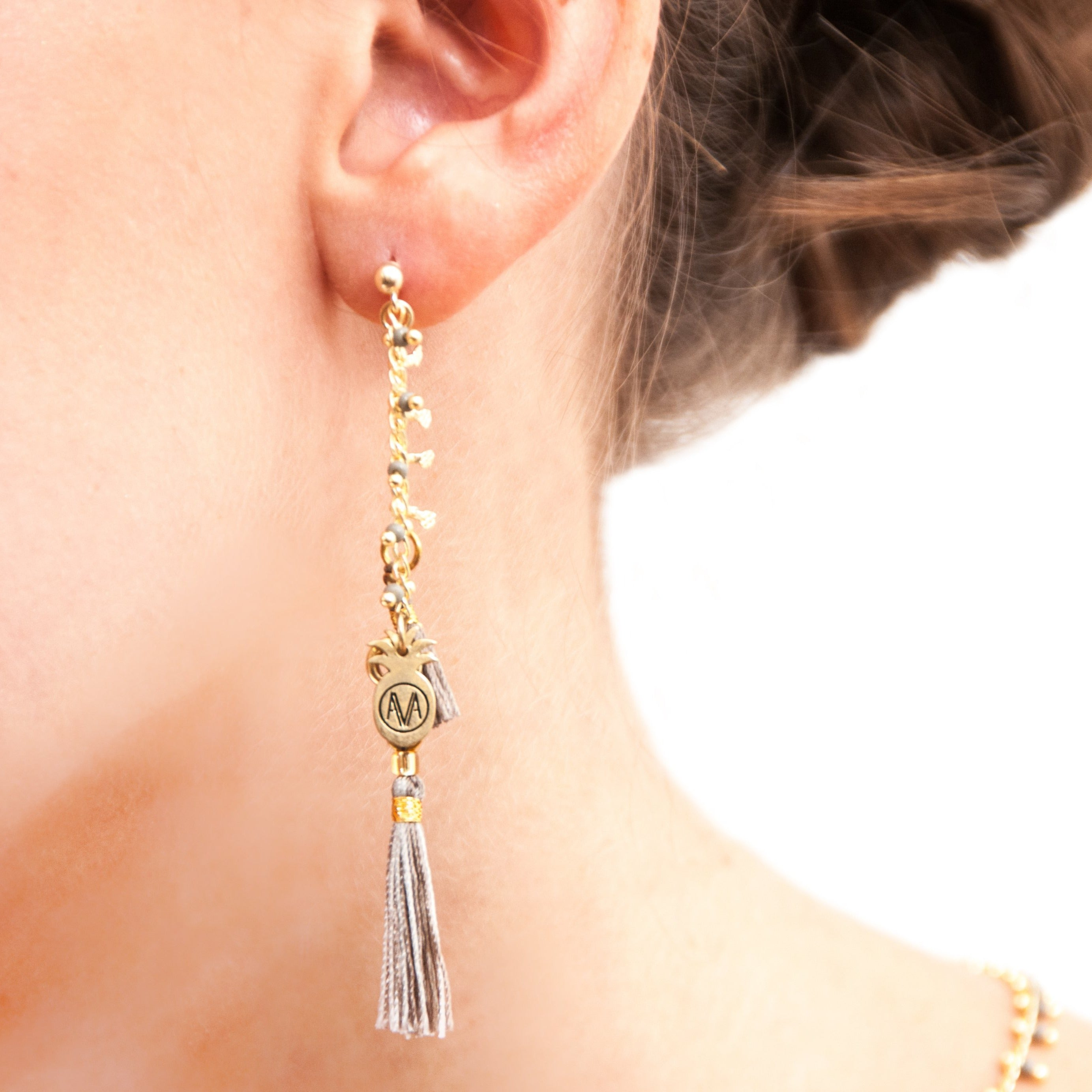 Carioca Earrings - Grey - Amadoria