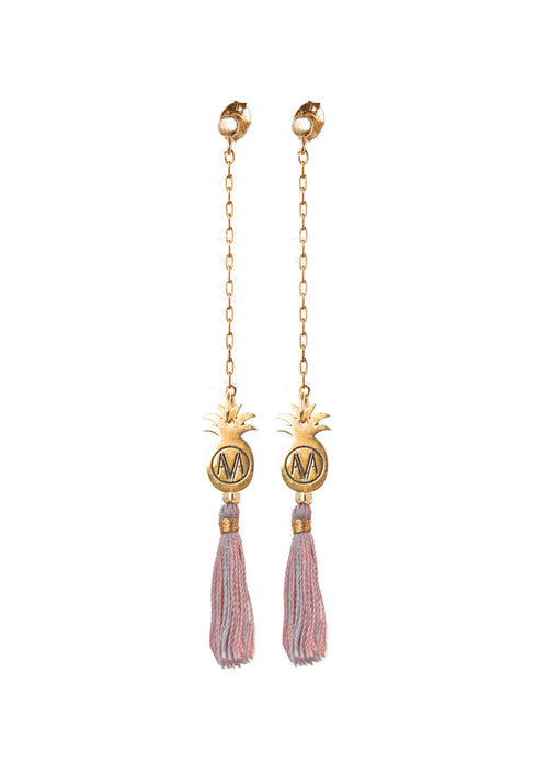 Gold Bamba Earrings - Chain