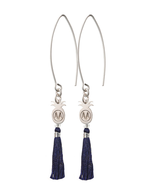 Silver Bamba Earrings - Hook
