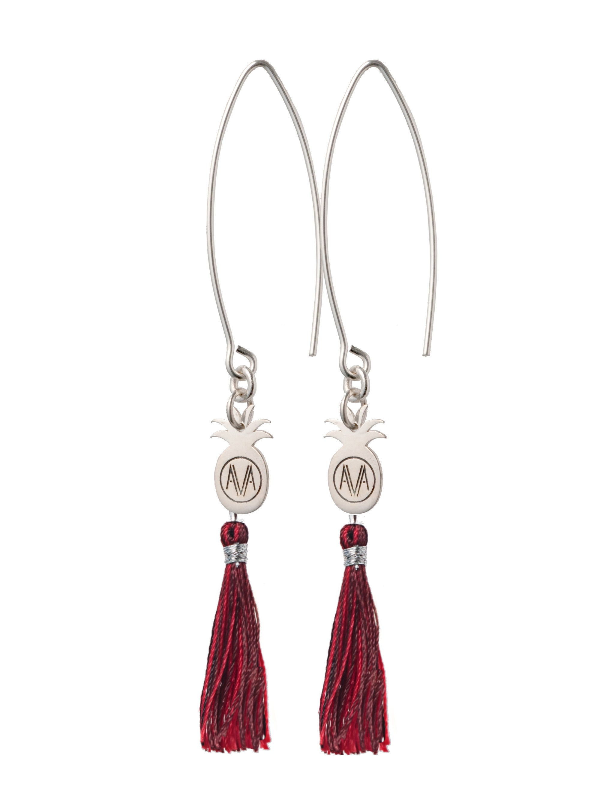 Silver Bamba Earrings - Hook - Amadoria