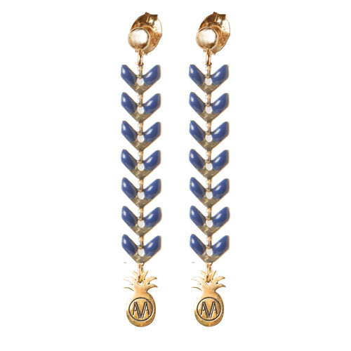 Pastel Earrings - Navy