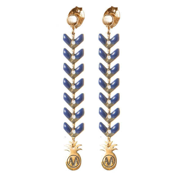 Pastel Earrings - Navy - Amadoria