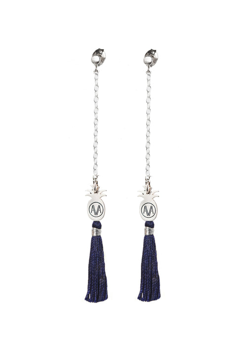 Silver Bamba Earrings - Chain
