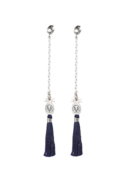 Silver Bamba Earrings - Chain - Amadoria