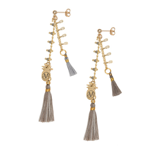 Carioca Earrings - Grey