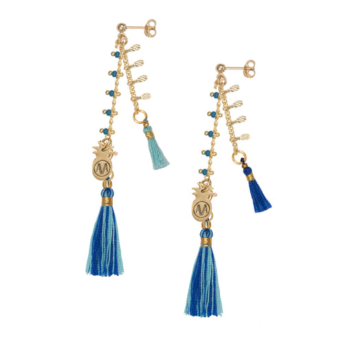 Carioca Earrings - Blue