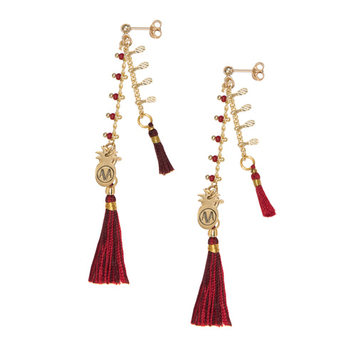 Carioca Earrings - Red