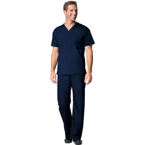 Maevn Mens V-Neck Top and Drawstring Pant Set Style 90061006 Navy