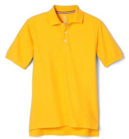 French Toast Brand Gold Pique School Uniform Polo for Boys and Girls