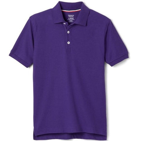 French Toast Brand Purple Pique School Uniform Polo for Boys and Girls