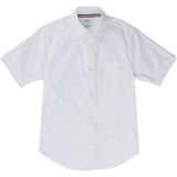 French Toast Kids Short Sleeve Oxford Shirt White Front