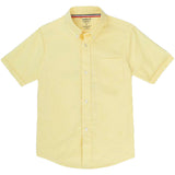 French Toast Kids Short Sleeve Oxford Shirt Yellow Front