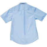 French Toast Toddlers/Kids Broadcloth Button-Down Shirt Blue Back