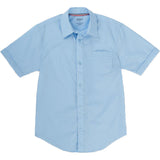 French Toast Toddlers/Kids Broadcloth Button-Down Shirt Blue Front