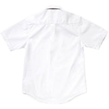 French Toast Toddlers/Kids Broadcloth Button-Down Shirt White Back
