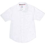 French Toast Toddlers/Kids Broadcloth Button-Down Shirt White Front