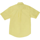 French Toast Toddlers/Kids Broadcloth Button-Down Shirt Yellow Back
