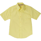 French Toast Toddlers/Kids Broadcloth Button-Down Shirt Yellow