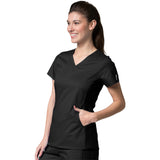 Maevn Eon Active Sporty Mesh Panel Top Style 1718  Sizes XS - 3XL Black