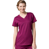 Maevn Eon Active Sporty Mesh Panel Top Style 1718  Sizes XS - 3XL Wine