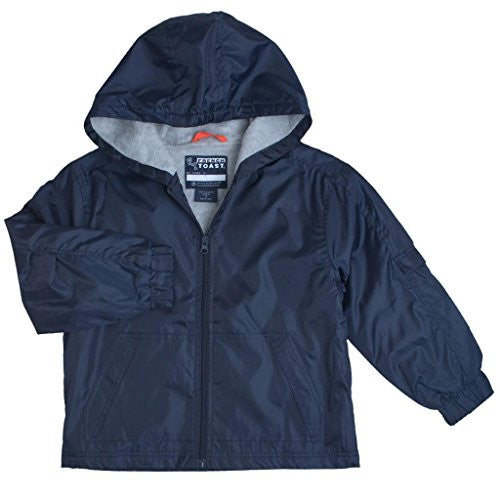 Kids Unisex Navy Blue Jacket Lined With Hoodie French Toast Uniform XS to XXL