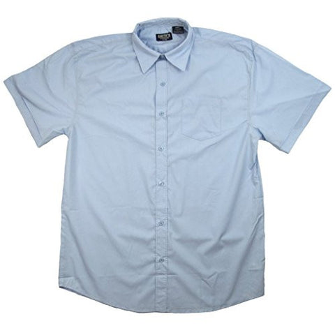 Smith's American Men's Workwear Short Sleeve Oxford Shirt Light Blue