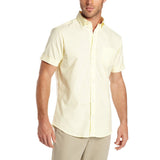 Mens Lee Button Down Short Sleeve Oxford Shirt Yellow