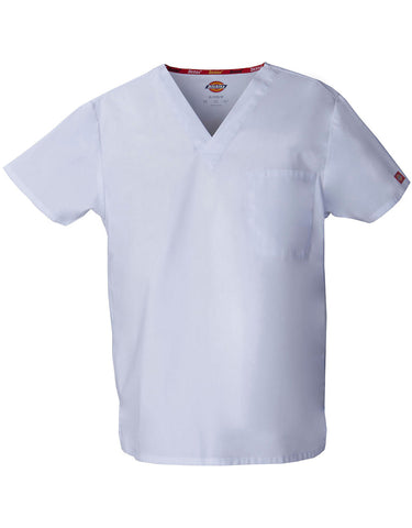 Dickies Unisex V- Neck Scrub Top Style - 83706 Sizes XXS - 2XL White