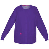 Dickies Women's Snap Front Warm-Up Scrub Jacket Style - 86306 Eggplant