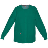 Dickies Women's Snap Front Warm-Up Scrub Jacket Green