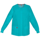 Dickies Women's Snap Front Warm-Up Scrub Jacket Teal