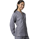 Maevn Eon Active Sporty Mesh Panel Jacket Style 8708 Sizes XS- 3XL Pewter