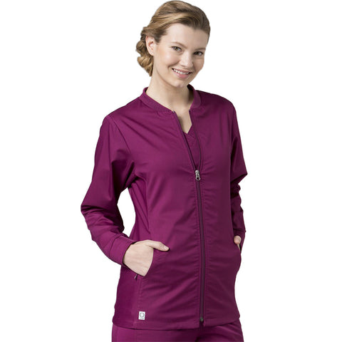 Maevn Eon Active Sporty Mesh Panel Jacket Style 8708 Sizes XS- 3XL Wine