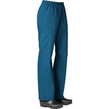 "Maevn Core Womens Full Elastic Band Cargo Pant Style 9016 - Tall 33"" Plus Size XXL - 3XL Caribbean Blue"