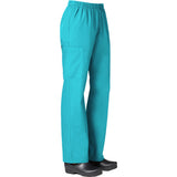 "Maevn Core Womens Full Elastic Band Cargo Pant Style 9016 - Petite 28"" Plus Size XS - XL Lake Blue"
