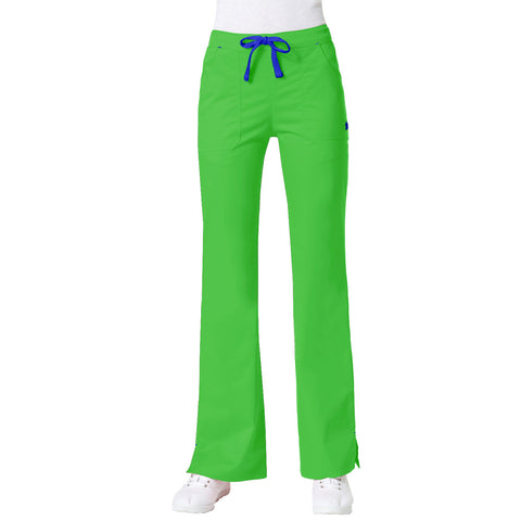Maven Women's Blossom Multi Pocket Flare Pant - Apple Green