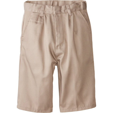 Genuine Kids Double Pleated Twill Shorts Khaki