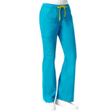 Maven Women's Blossom Multi Pocket Utility Cargo Pant  - Pacific Blue
