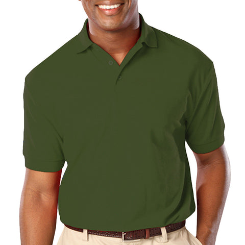Blue Generation Mens Classic Fit Short Sleeve Polo Sizes 3XL - 6XL Hunter Green