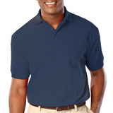 Blue Generation Mens Classic Fit Short Sleeve Polo Sizes 3XL - 6XL Blue