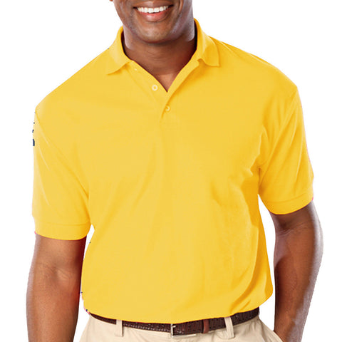 Blue Generation Mens Classic Fit Short Sleeve Polo Sizes 3XL - 6XL Yellow