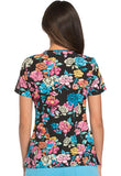 "Dickies Prints Women's Mock Wrap Scrub Top ""Beauty Blooms"" Style DK714 BTYB<br/>Sizes XS - M"