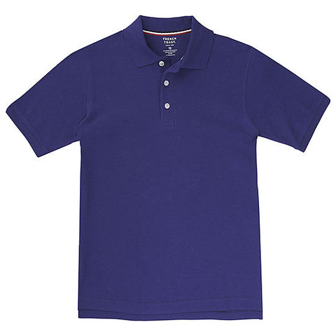 French Toast Toddler Purple Pique Polo 2T - 4T