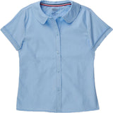 French Toast Toddlers/Girls Peter Pan Collar Blouse Blue